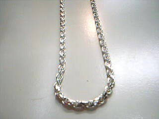 "19"" Silver Rope Chain 925 Silver 21.8g"