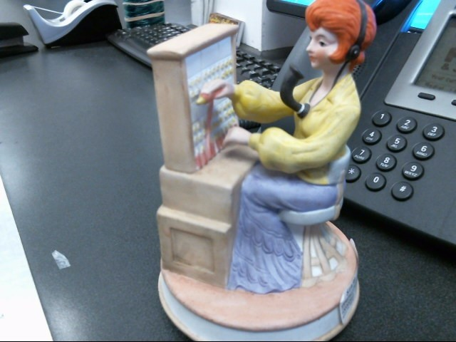 ESPECIALLY Collectible Plate/Figurine SECRETARY ON THE PHONE