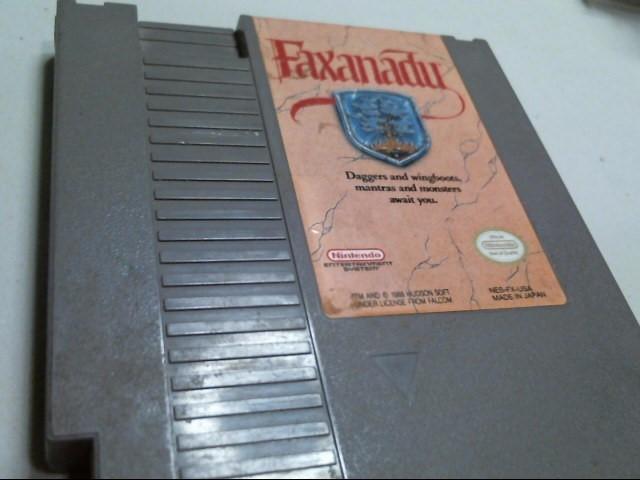 NINTENDO NES GAME: FAXANADU