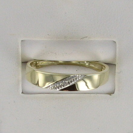 Gent's Gold Wedding Band 10K Yellow Gold 1.2dwt