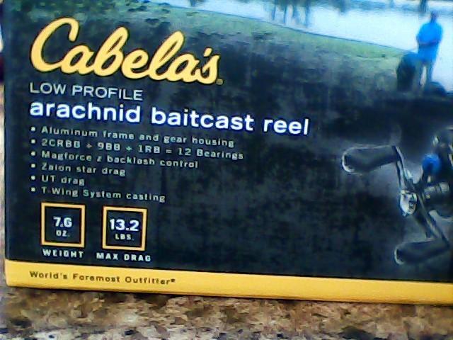 CABELAS Fishing Reel ARACHNID BAITCAST REEL