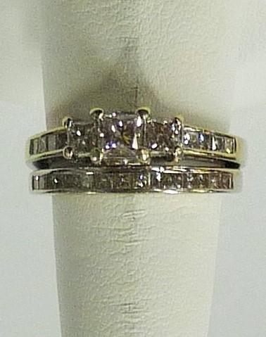 Lady's Diamond Wedding Set 26 Diamonds 2.05 Carat T.W. 14K White Gold 4.08dwt