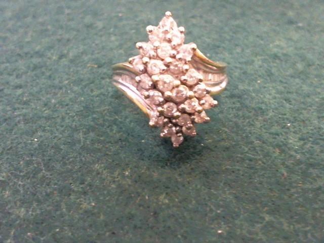 Gent's Diamond Cluster Ring 38 Diamonds 1.90 Carat T.W. 10K Yellow Gold 5.5g