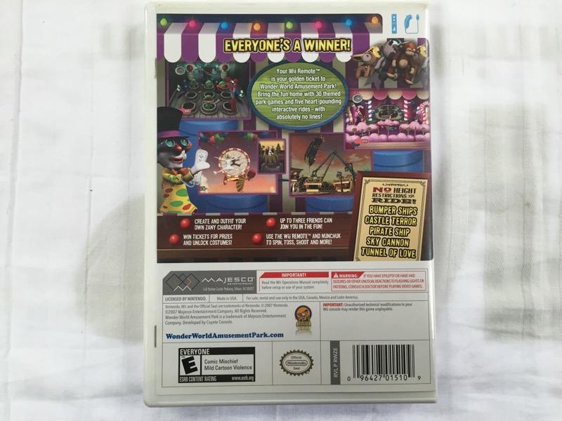 Nintendo Wii Wonder World Amusement Park