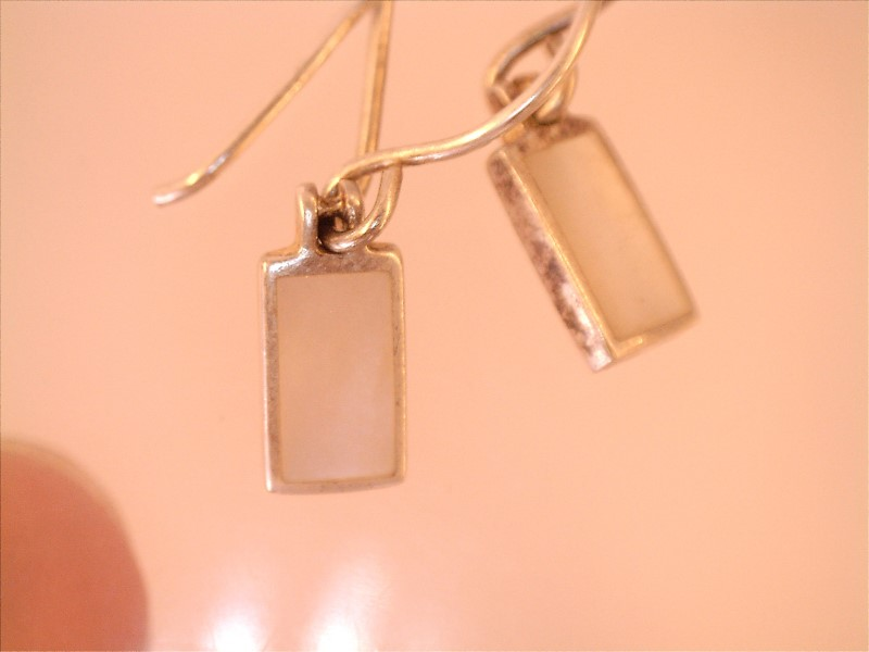 SMALL MOTHER OF PEARL RECTANGLES ON WIRES, 5MM X 10MM