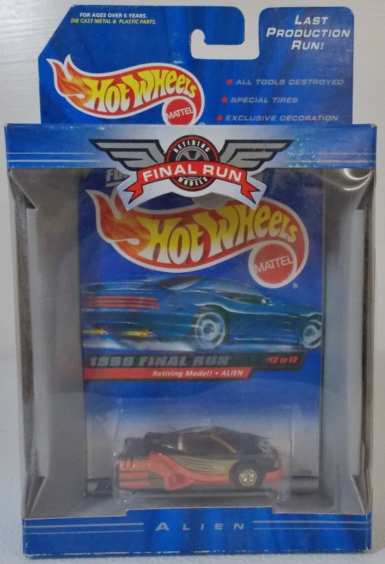 1999 FINAL RUN HOT WHEELS, MISSING NUMBER 5 OF 12 CARS (11 INCLUDED)