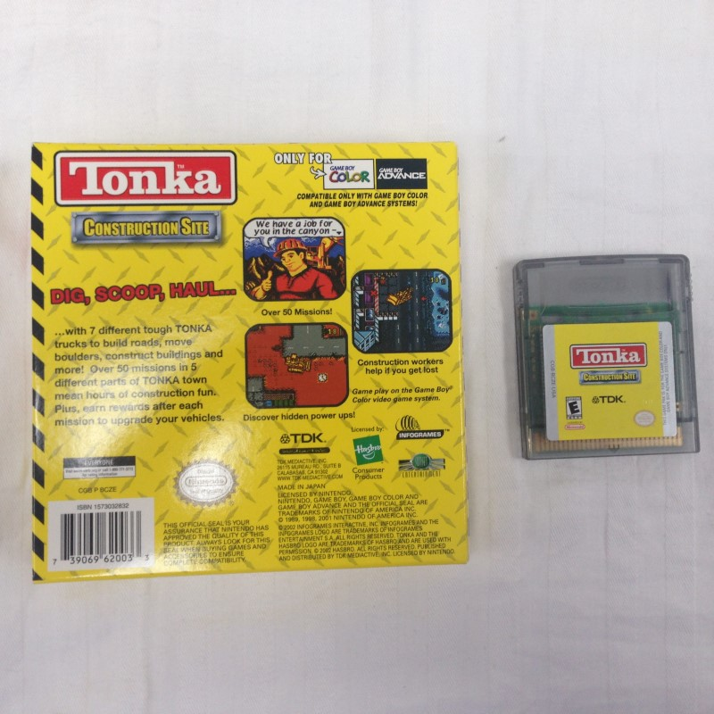 TONKA CONSTRUCTION SITE GAMEBOY COLOR