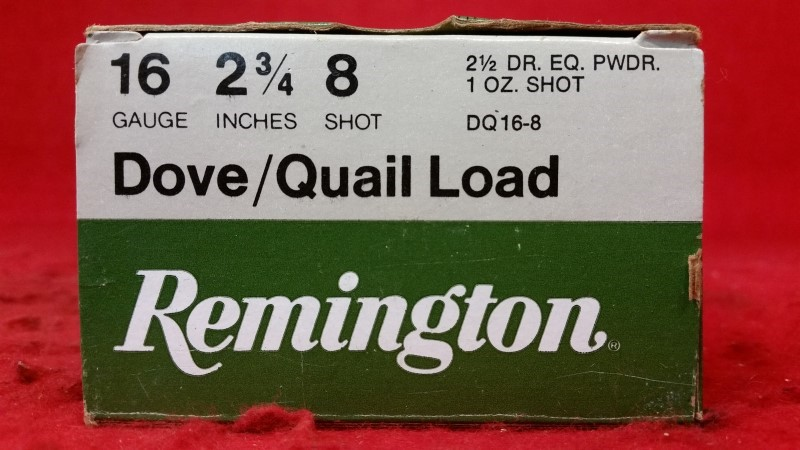 Remington 16ga Dove / Quail Load Ammo