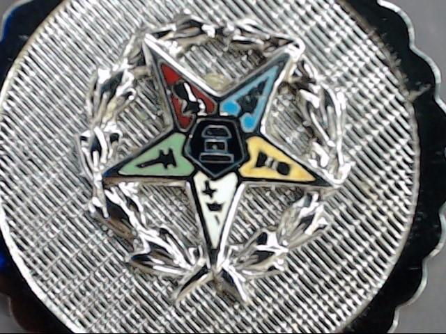 ESTATE EASTERN MASONIC STAR PENDANT CHARM STERLING SILVER 925