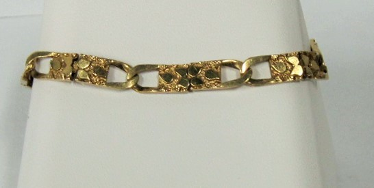 Gold Bracelet 10K Yellow Gold 6.77dwt