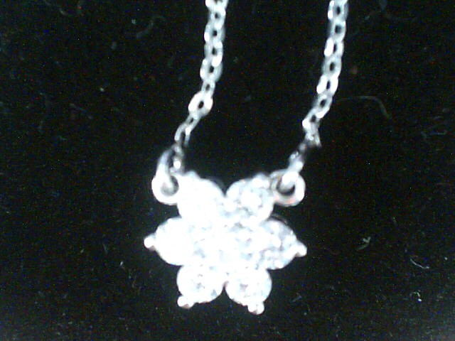 Diamond Necklace 14 Diamonds .25 Carat T.W. 14K White Gold 1dwt