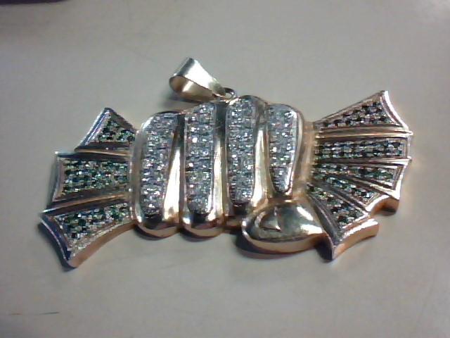 Gold-Multi-Diamond Pendant 158 Diamonds 3.74 Carat T.W. 10K Yellow Gold 27.8g