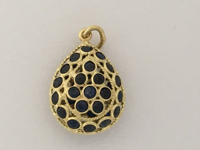 "18K YELLOW GOLD ""EGG"" PENDANT (1.4G)"