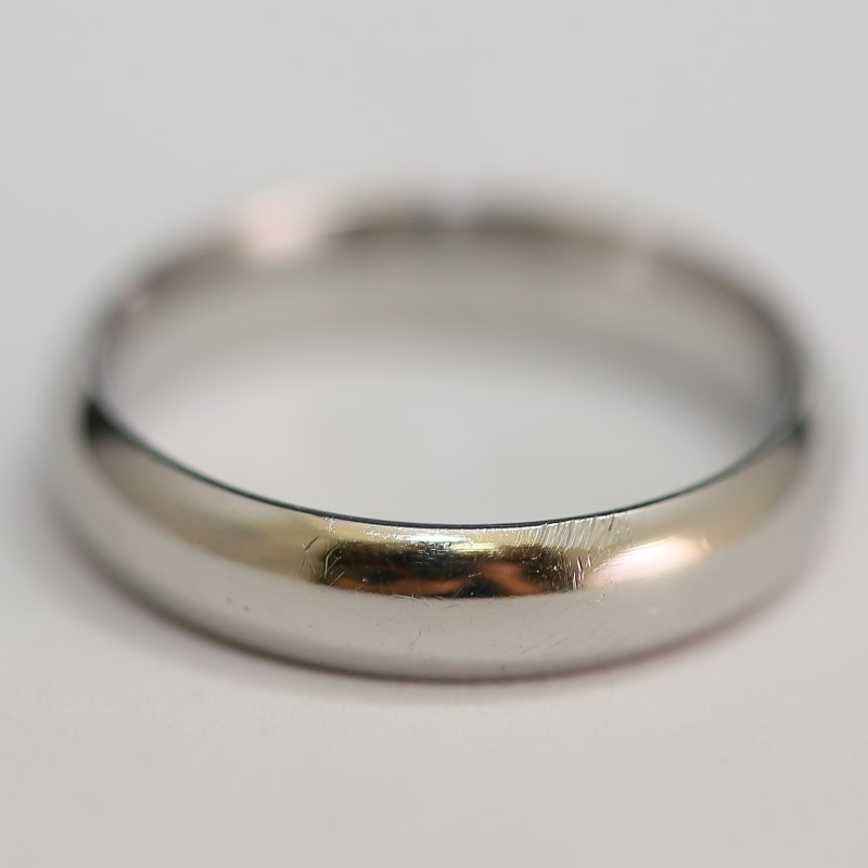Stainless Silver Comfot Fit Matte Finish Wedding Band Size 10