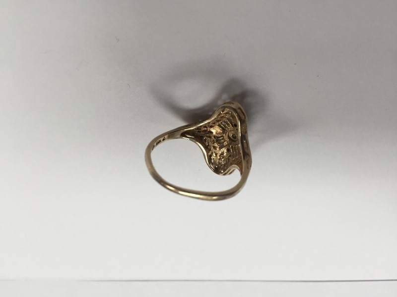 Lady's Diamond Fashion Ring 3 Diamonds .03 Carat T.W. 10K Yellow Gold 3.13g