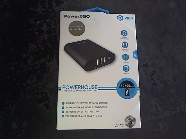 POM GEAR Cell Phone Accessory POWER2GO POWERHOUSE 10400 MAH