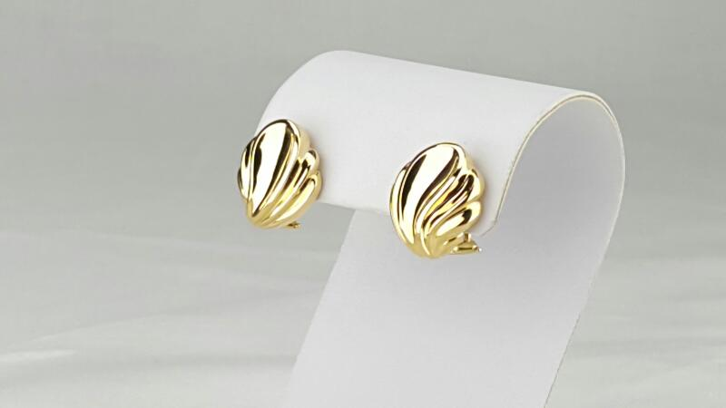 Tiffany & Co. Gold Shell Earrings 18K Yellow Gold 11.7g