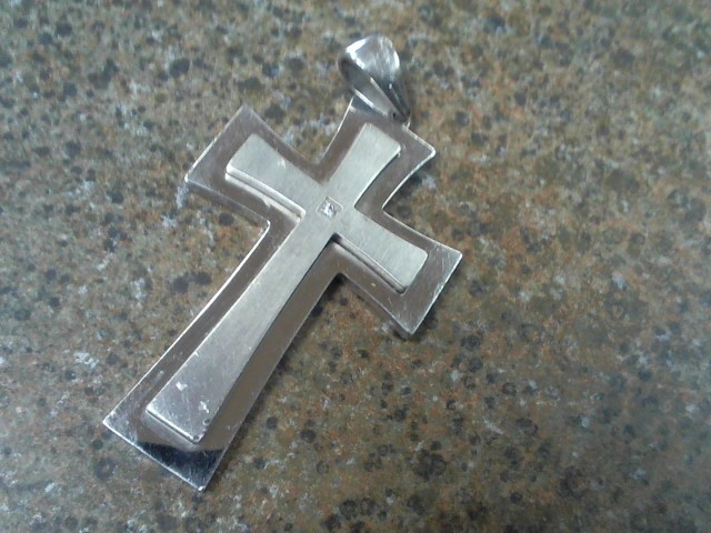 """One of a kind"" STAINLESS CROSS PENDENT"