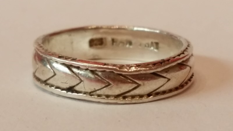 Lady's Silver Wedding Band 925 Silver 3.05g Size:7.5