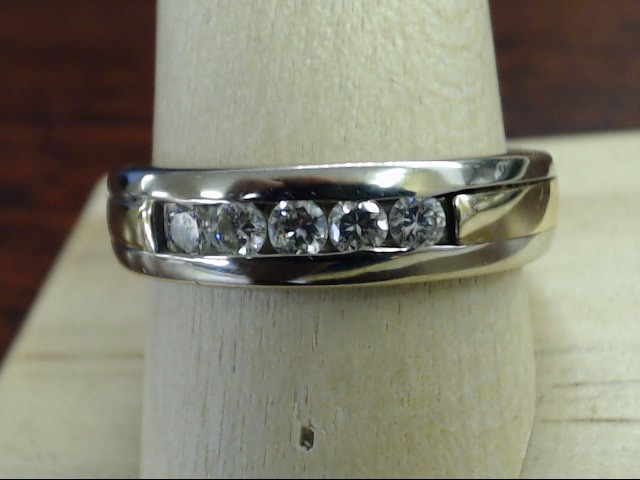 ESTATE DIAMOND WED RING BAND SOLID 14K 2 TONE GOLD 5mm MEN SIZE 9.75