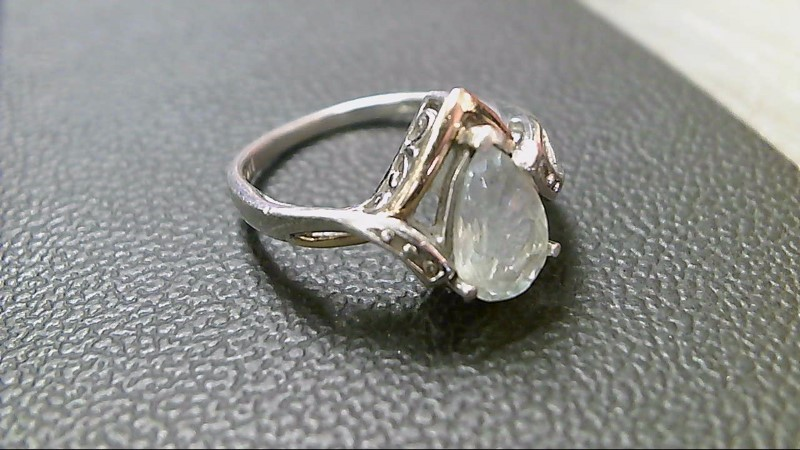 Teal Stone Lady's Silver & Stone Ring 925 Silver 3g