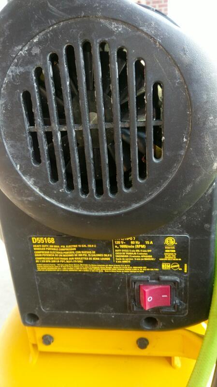 DEWALT AIR COMPRESSOR MODEL D55168
