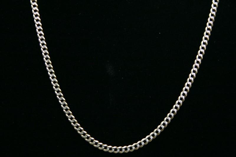 """25"""" CURB LINK DIAMOND CUT  CHAIN 14K 2TONE GOLD"""
