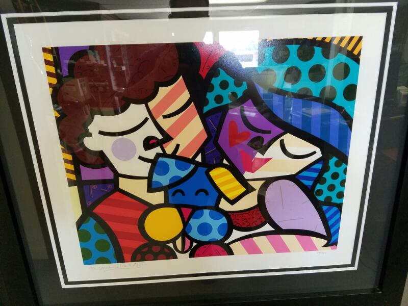 ROMERO BRITTO Giclee THE THREE OF US