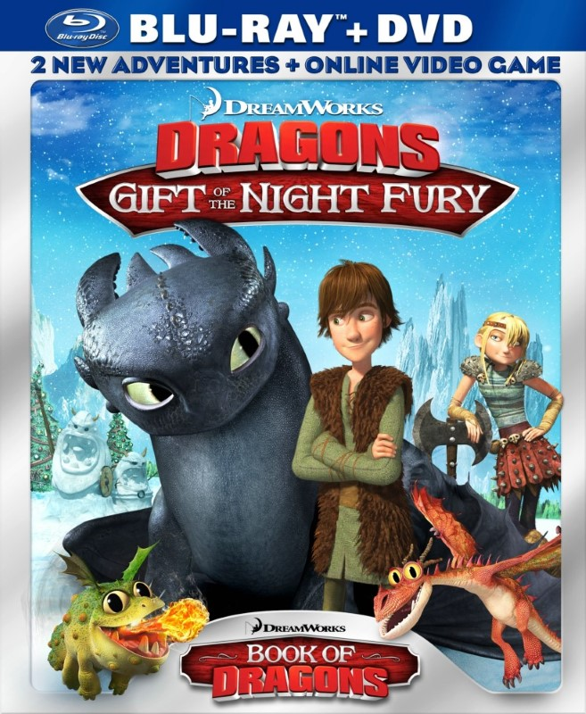 DREAMWORKS Blu-Ray DRAGONS GIFT OF THE NIGHT FURY