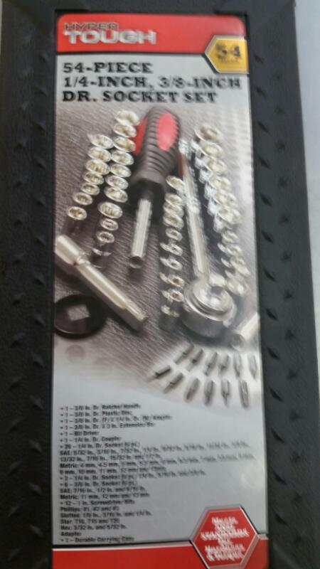 HYPER TOUGH Sockets/Ratchet 54-PIECE DR.SOCKET SET