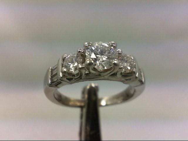 Lady's Platinum-Diamond Anniversary Ring 9 Diamonds 1.00Carat T.W. 950 Platinum