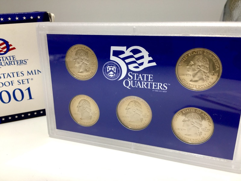 2001 United States Mint Proof Set - 10 Coins - With Box & COA
