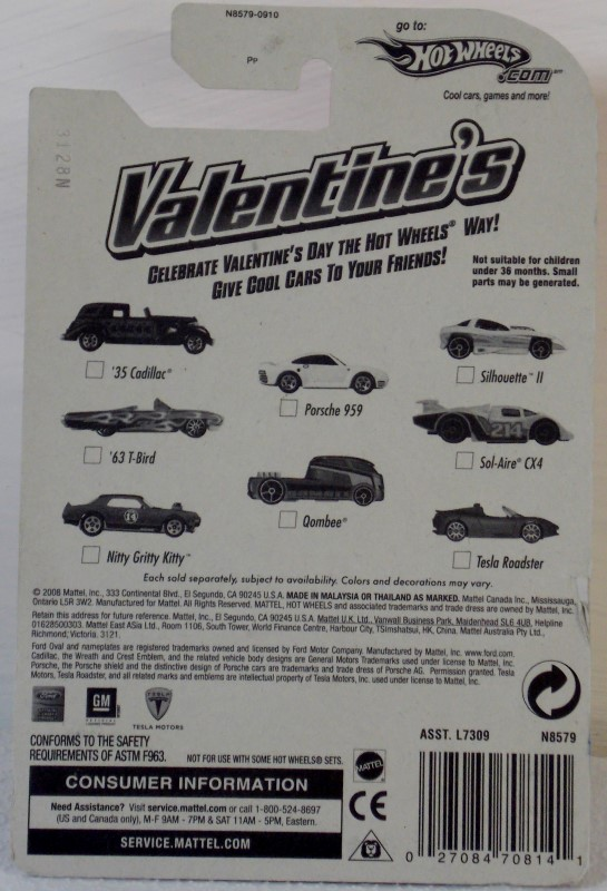 MATTEL HOT WHEELS VALENTINES COLLECTION, INCOMPLETE