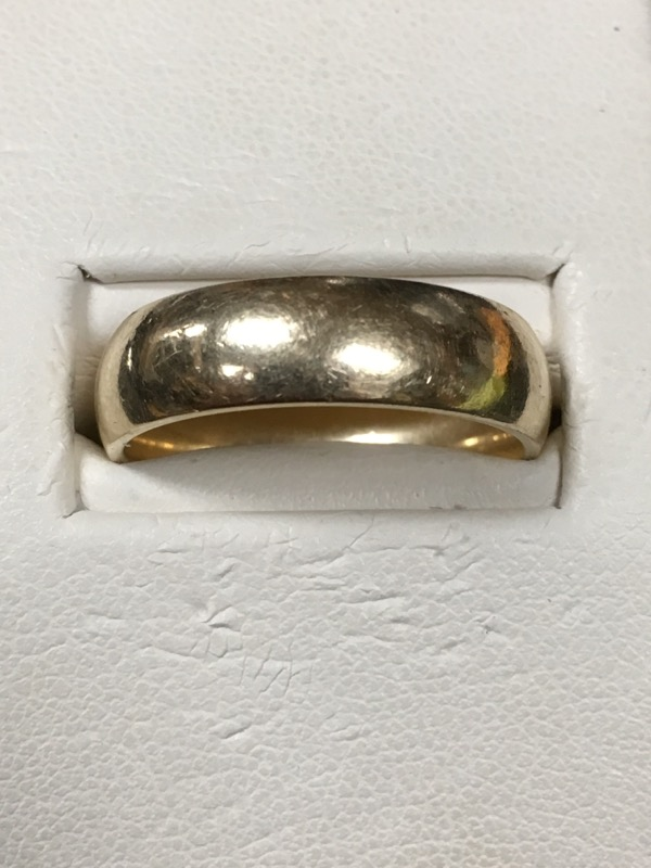 Gent's Gold Wedding Band 14K Yellow Gold 5.7dwt