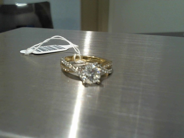 Lady's Gold Ring 14K 2 Tone Gold 4.2g