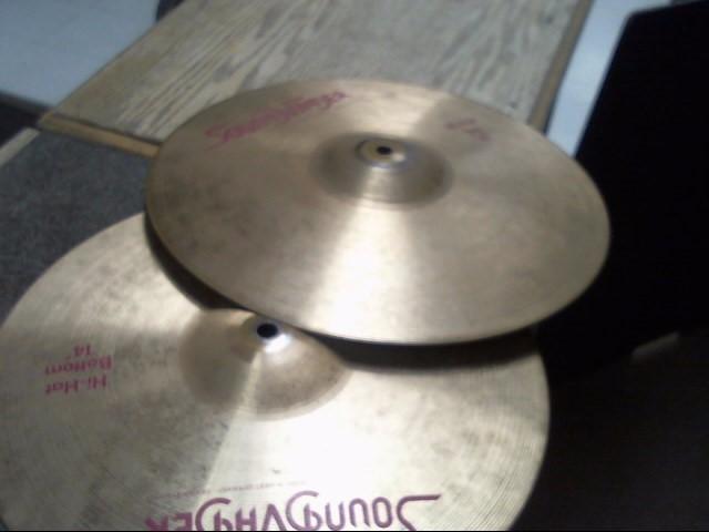 """SOUND VADER Cymbal 14"""" HI HAT SET"""