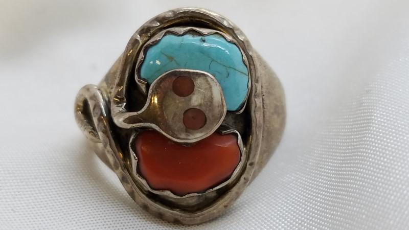 Effie C Zuni Silver Ring Silver 13.4g
