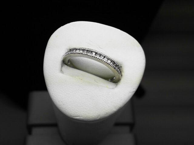 Lady's Diamond Fashion Ring 27 Diamonds .135 Carat T.W. 14K White Gold 2.5g