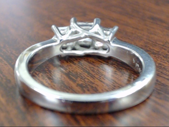 VINTAGE PRINCESS CUT 3 DIAMOND ENGAGE RING SOLID 950 PLATINUM SIZE 6
