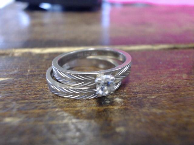 Lady's Diamond Wedding Set 3 Diamonds .20 Carat T.W. 14K White Gold 4.6g