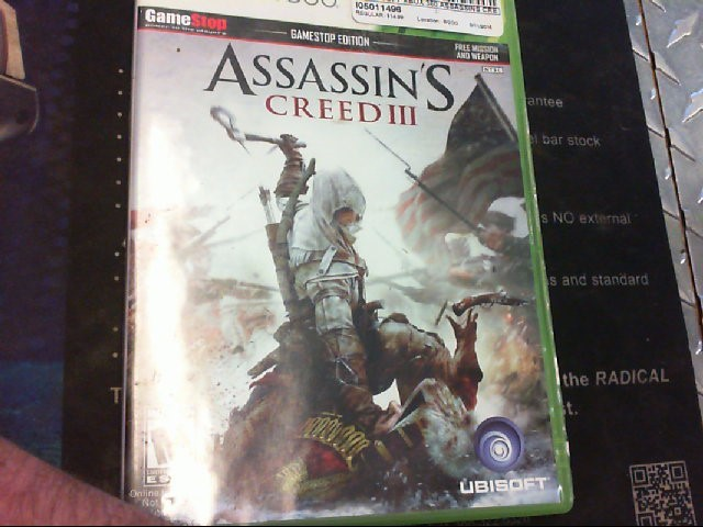 Microsoft XBOX 360 Game ASSASSINS CREED III - XBOX 360