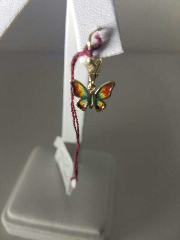 BUTTERFLY_HOOPS EARRINGS L'S 14KT   1.5/Y