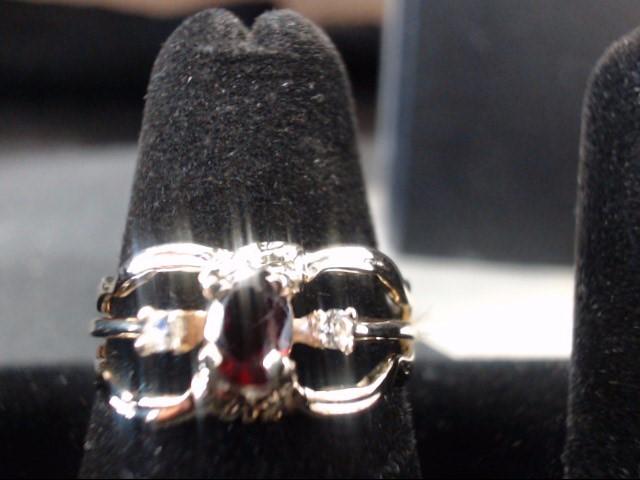 Lady's Diamond Fashion Ring 2 Diamonds .04 Carat T.W. 14K Yellow Gold 3.9g
