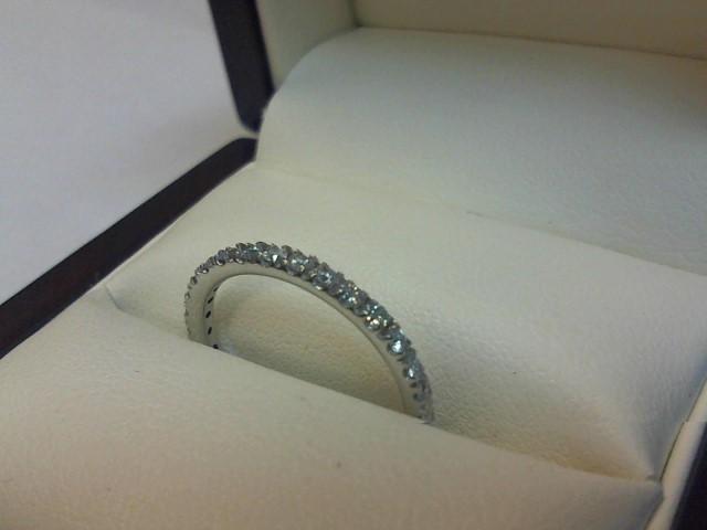 Lady's Diamond Wedding Band 17 Diamonds .17 Carat T.W. 14K White Gold 1.1dwt