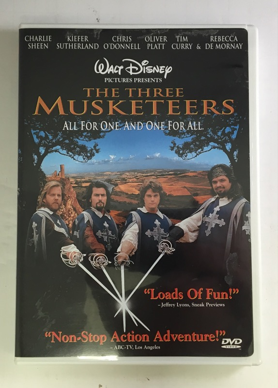 DVD MOVIE WALT DISNEY'S THE THREE MUSKETEERS