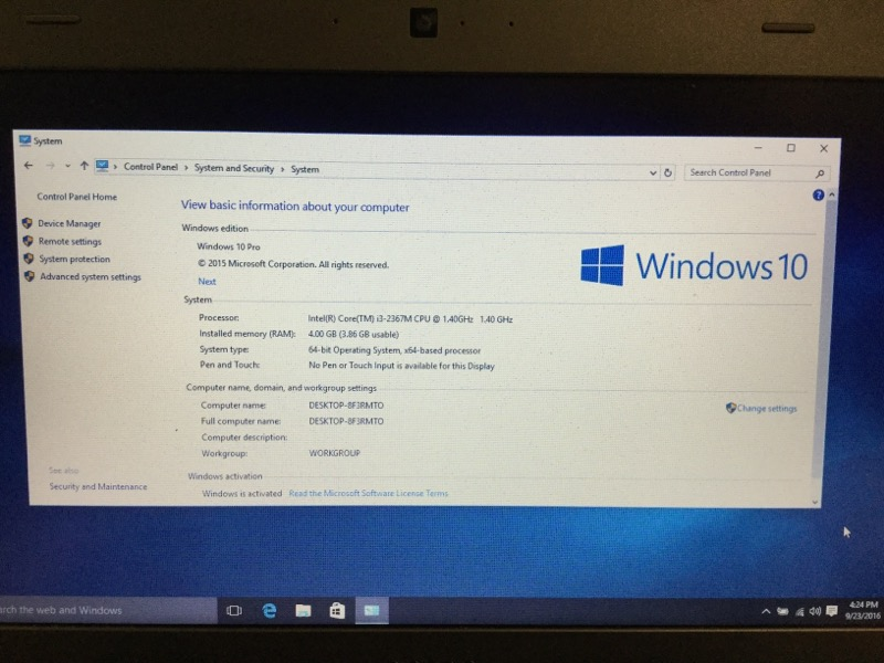 Dell Vostro 3360 1.40GHz Intel i3, 500GB HD, 4GB Ram