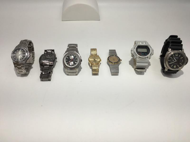 Lot of Seven Mens Wristwatches AS IS G Shock, Armitron, & More!