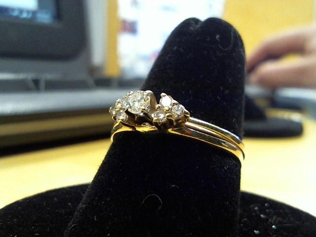 Lady's Diamond Fashion Ring 7 Diamonds .33 Carat T.W. 14K Yellow Gold 2.6g