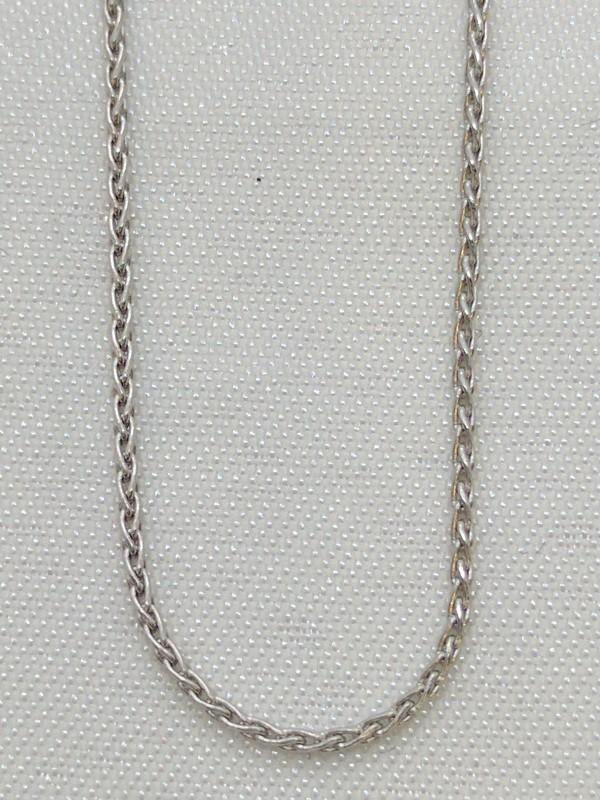 """17"""" Gold Fashion Chain 14K White Gold 1.9g"""