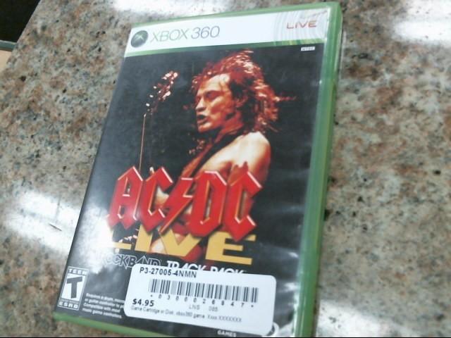 MICROSOFT Microsoft XBOX 360 Game ACDC LIVE ROCKBAND TRACK PACK